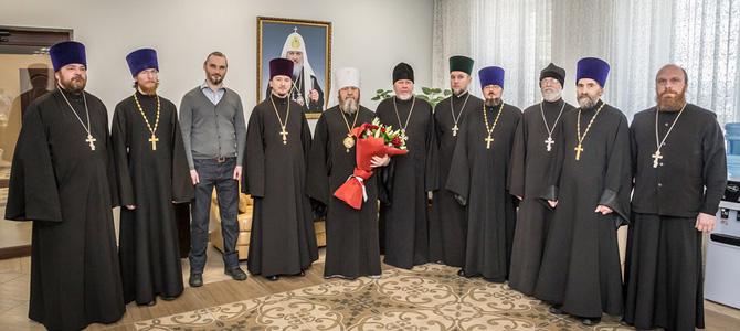 В день тезоименитства митр. Викторин принял поздравления